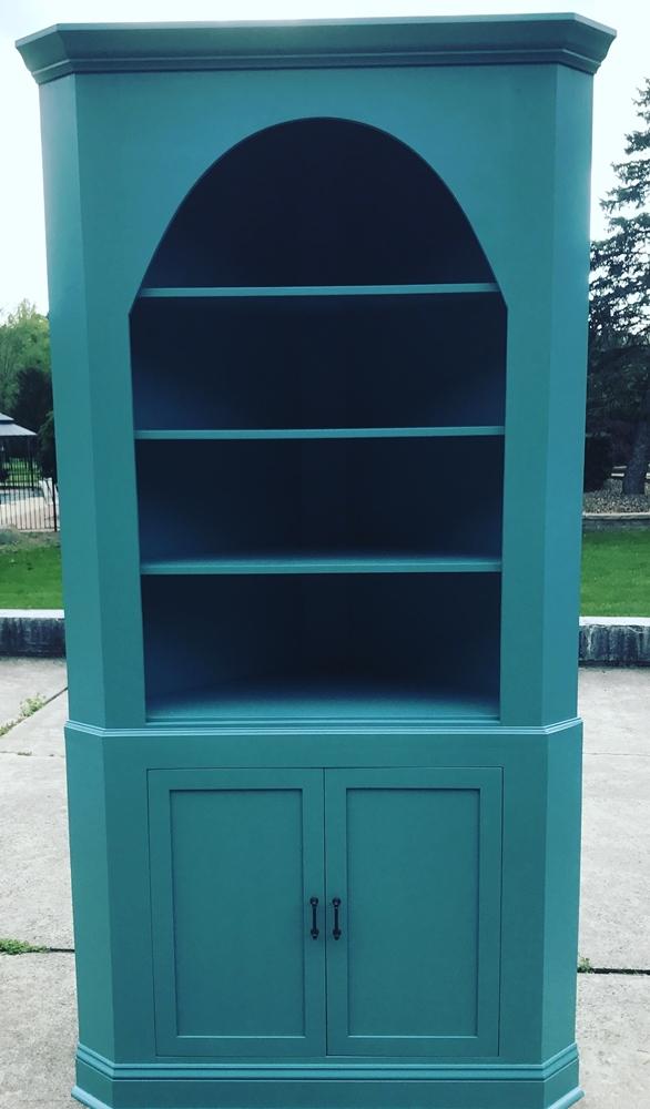 Handmade Custom Corner Cabinet