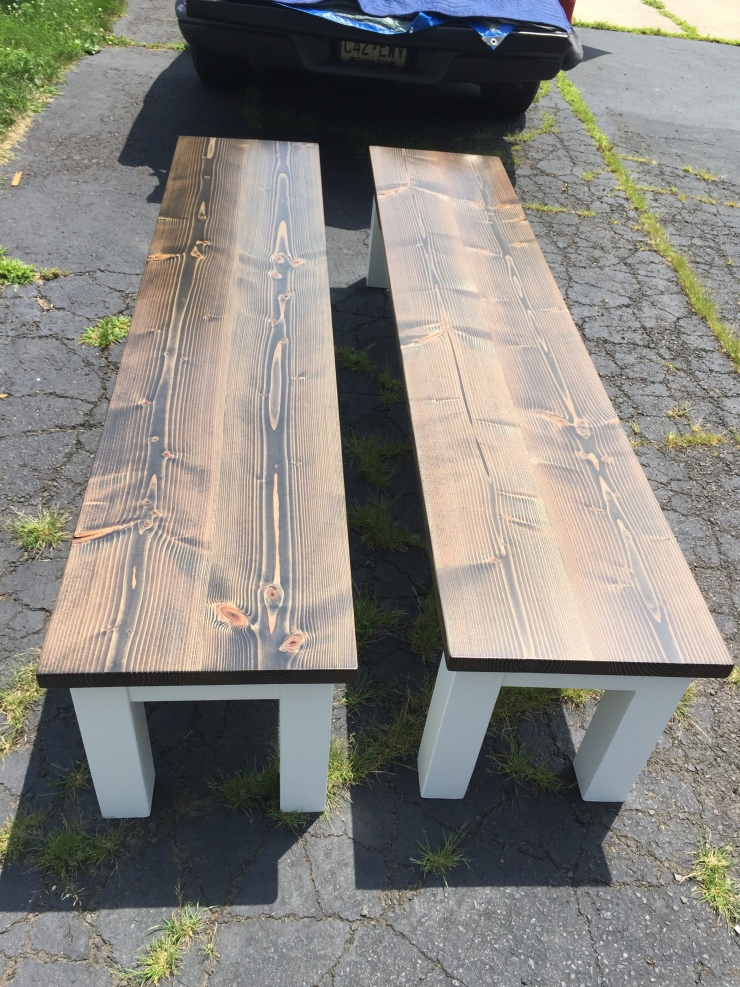 custom wood benches for a kitchen table