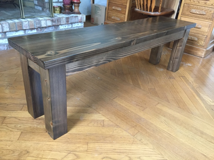 Dining Bench with General Finishes Waterbased Walnut Stain