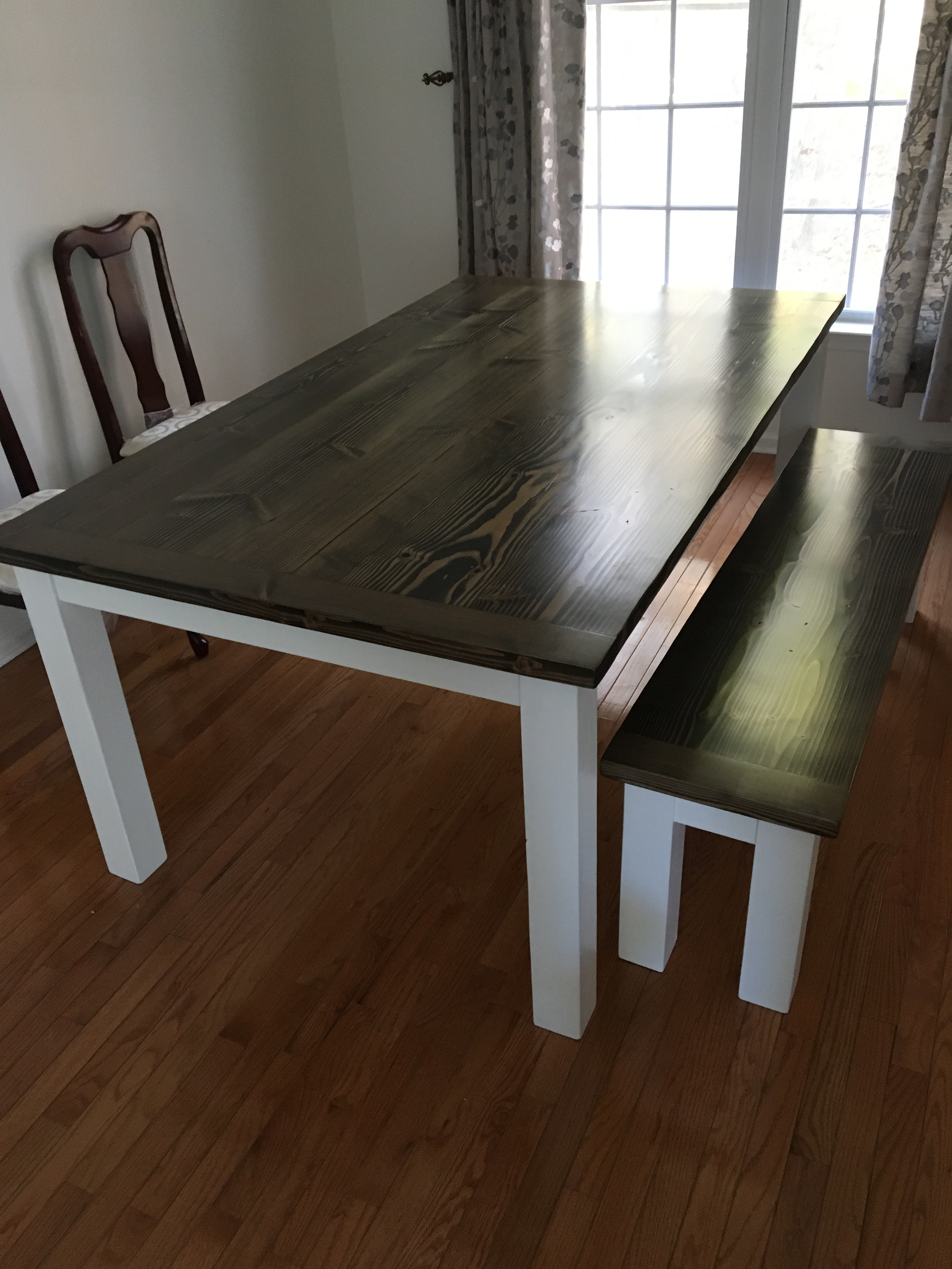 ... Handmade Wood Table And Bench With Breadboard Ends ...