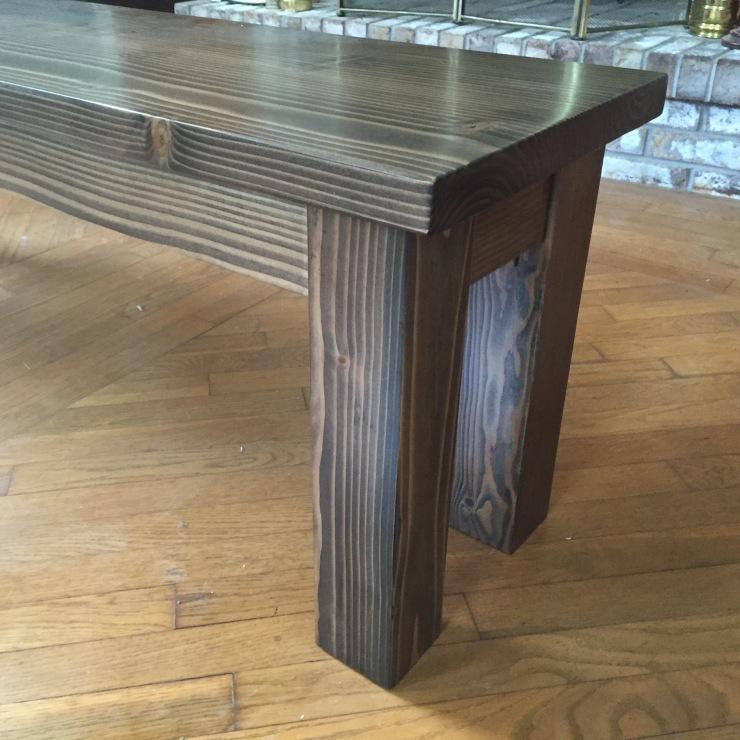 Dark Walnut Dining bench