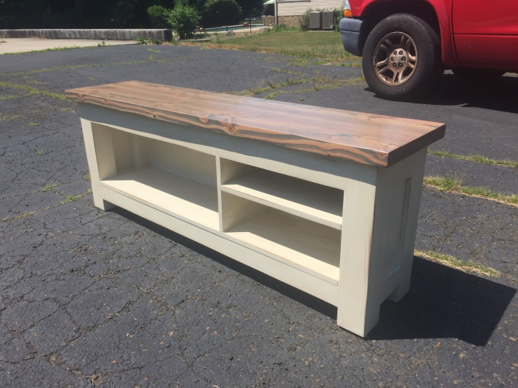Handmade storage bench for shoes