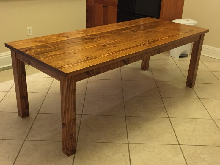 7'Frmhouse table with Early American Stain Richmond VA