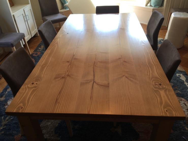Handmade Custom Douglas Fir Table with Fruitwood Stain