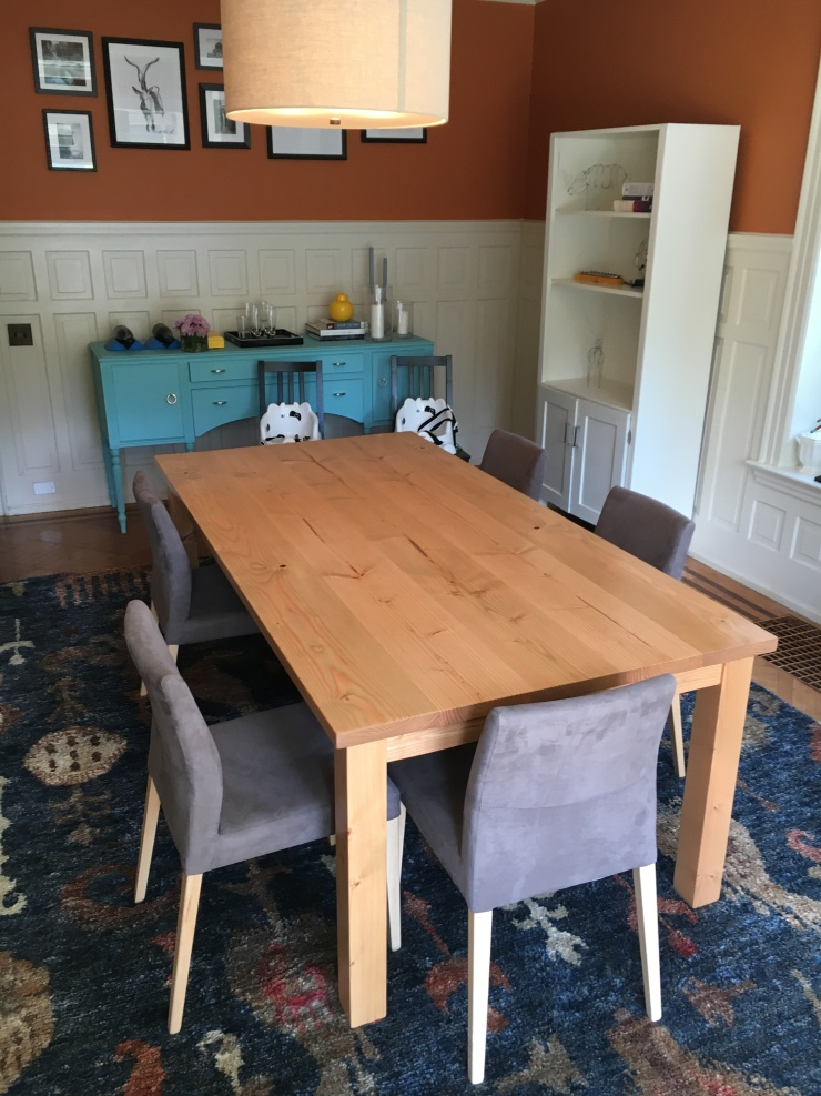 Custom sized table in a historic home in elkins park pennsylvania