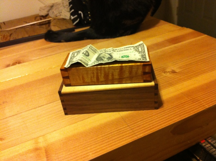 handmade Small boxes with tiny handcut dovetails.
