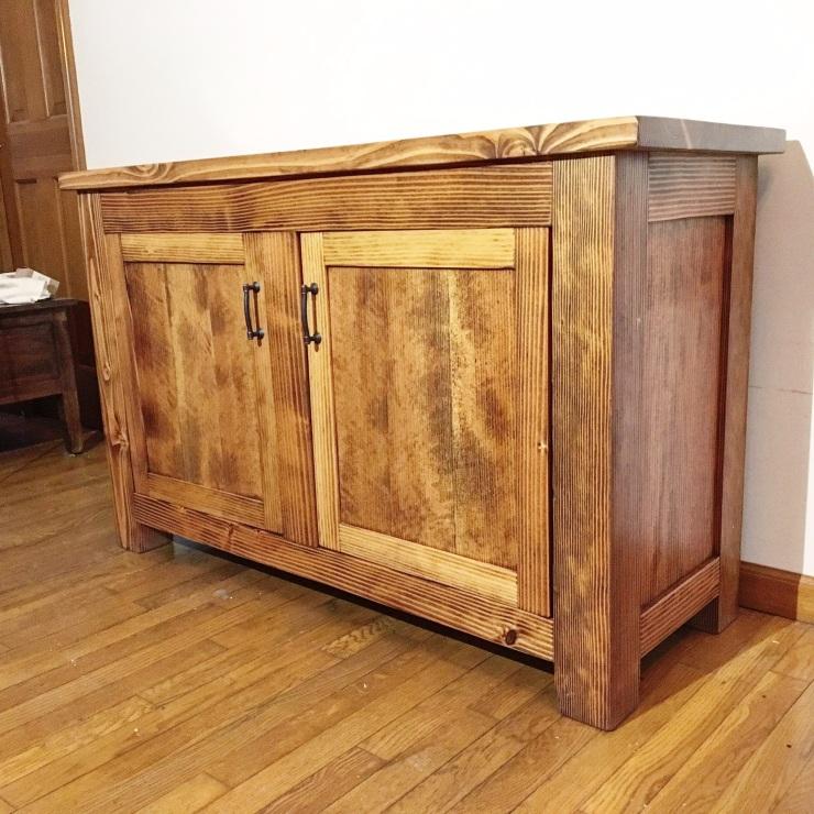 Sideboard or buffet made from CVG Douglas Fir