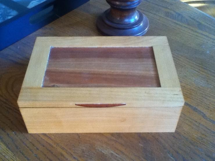 handmade wood giftbox cherry and maple