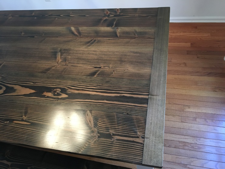 handmade wood table with breadboard ends