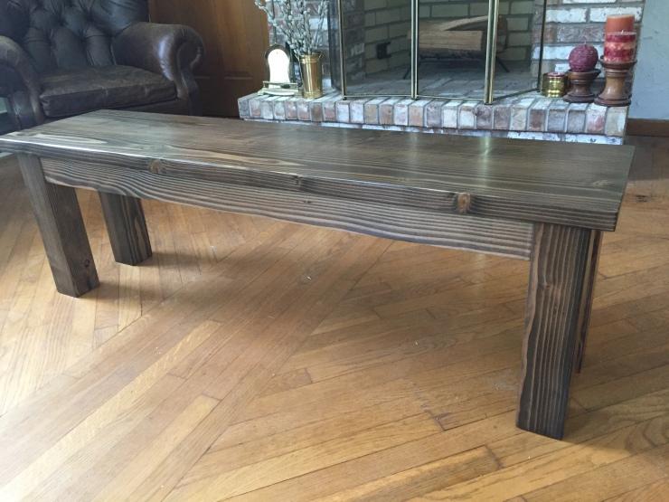 walnut wood dining bench